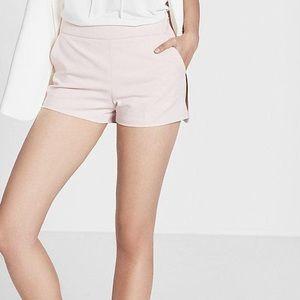 EXPRESS Blush pink Mid Rise Cotton Blend Shorts